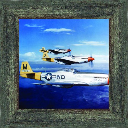Historically Yours P-51 Mustang Fighters, Aviation Picture Frame, 10x10 8517