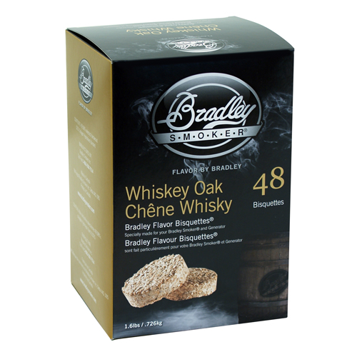 Bradley Whiskey Oak Special Edition Bisquettes 48-pack SKU: BTWOSE48