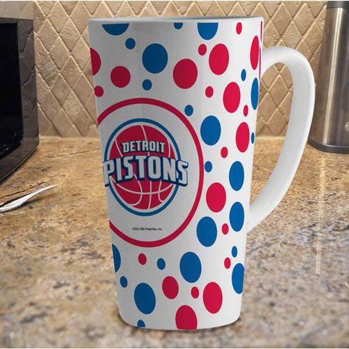 NBA - Detroit Pistons 16oz White Polka Dot Latte Mug