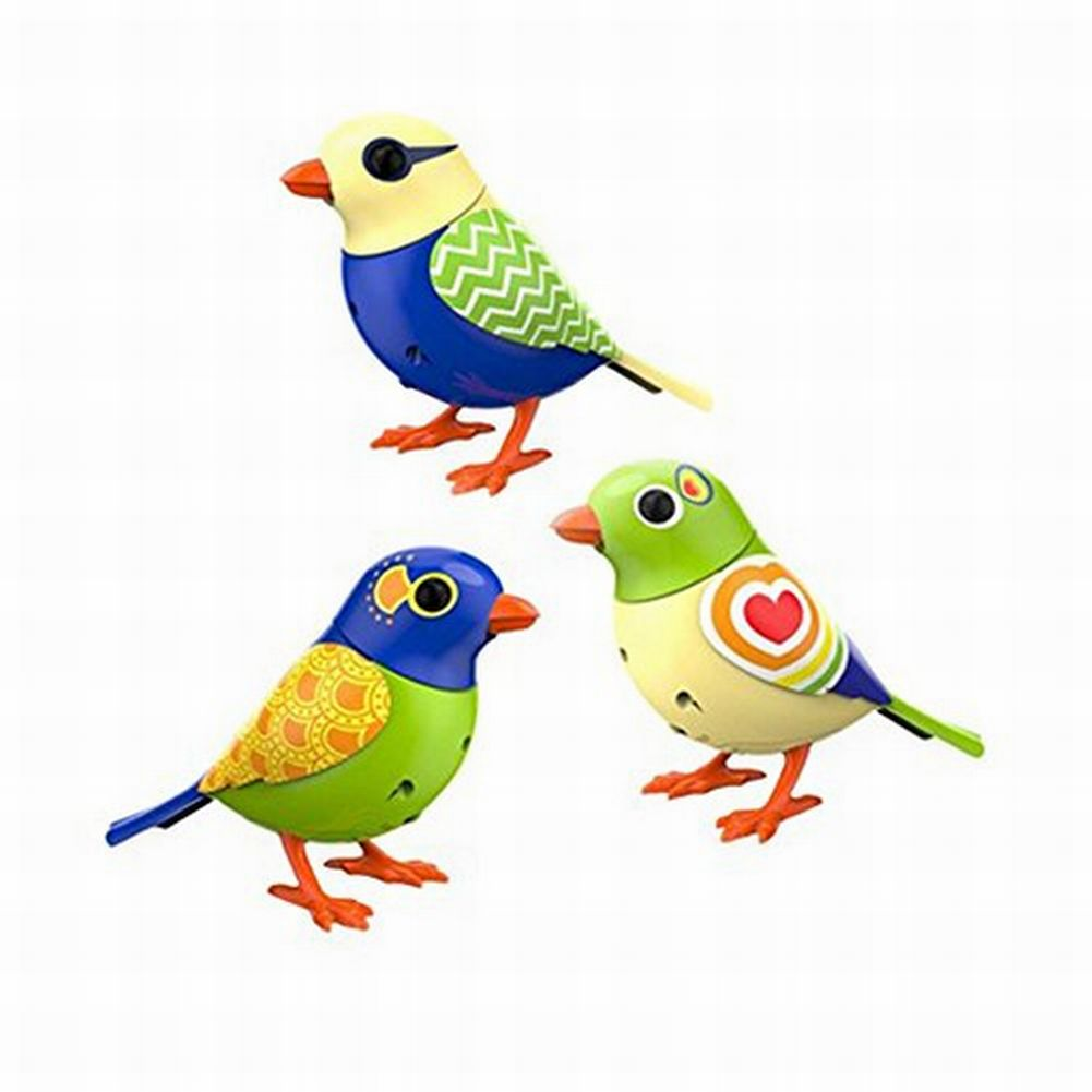 Digi Birds Twinkles Trio Set of 3 DigiBirds Sings Solo & In A Choir