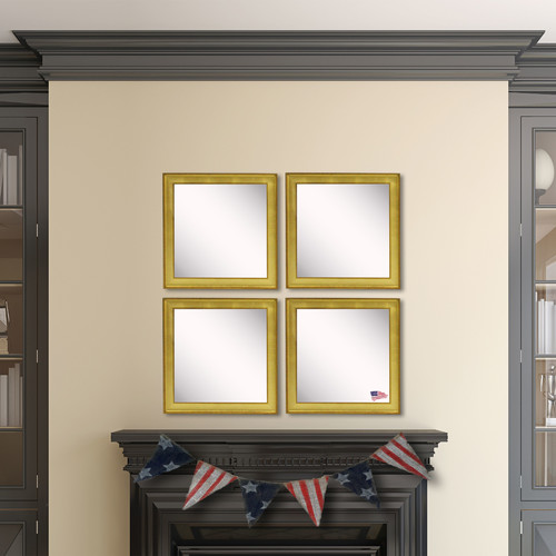 Rayne Mirrors Ava Vintage Gold Mirror (Set of 4)