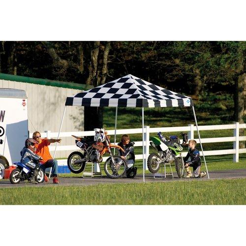 10' x 10' Sport Pop-up Canopy Slant Leg Checkered Flag Cover