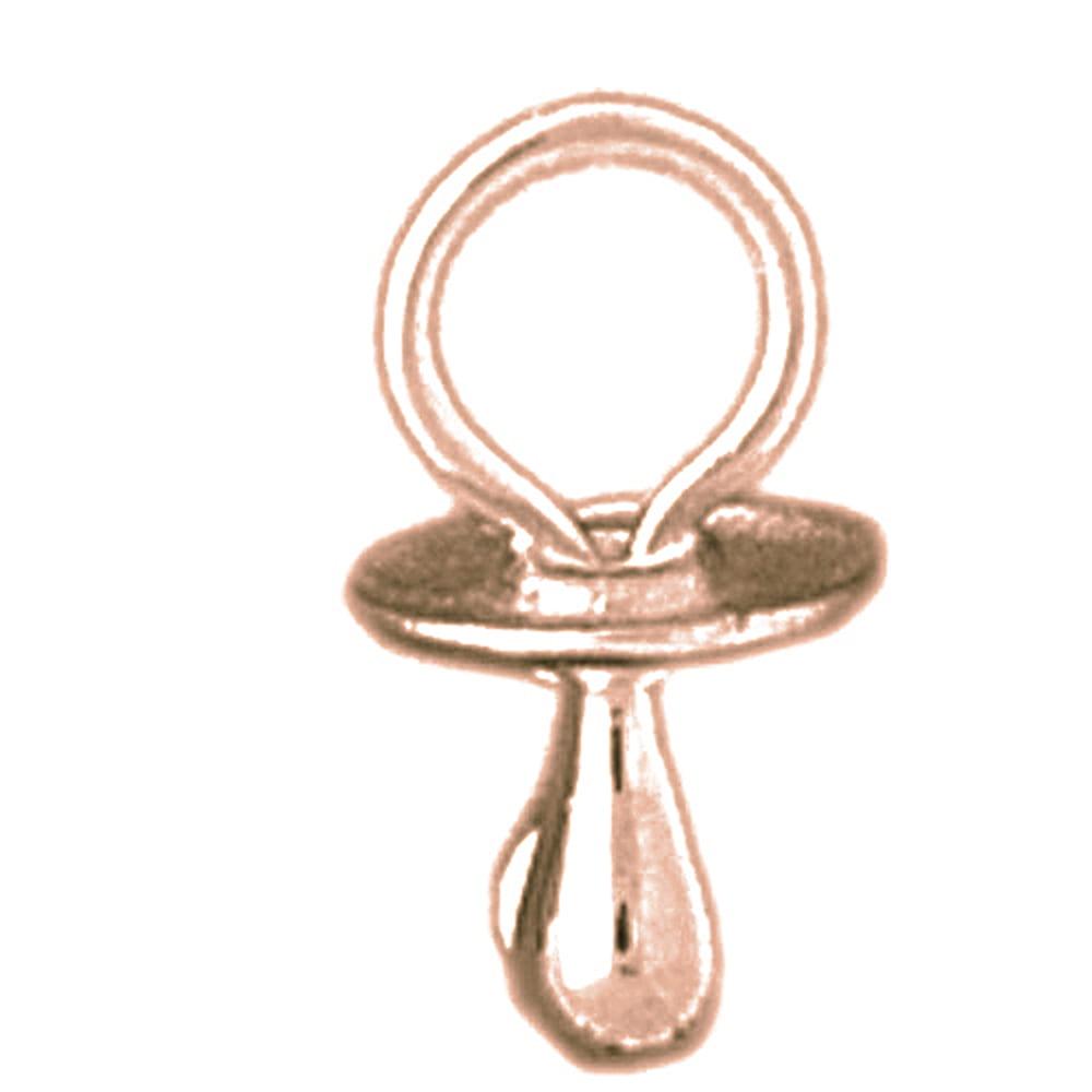 Jewels 14K Rose Gold 3-D Pacifier Pendant - 10 mm