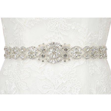 257444daee3c HDE Rhinestone Bridal Belt Sash Crystal Wedding Sash Belt for Wedding Dress  Gown - image 5 ...