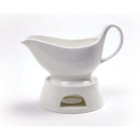 Norpro Porcelain Gravy Sauce Boat with Stand and