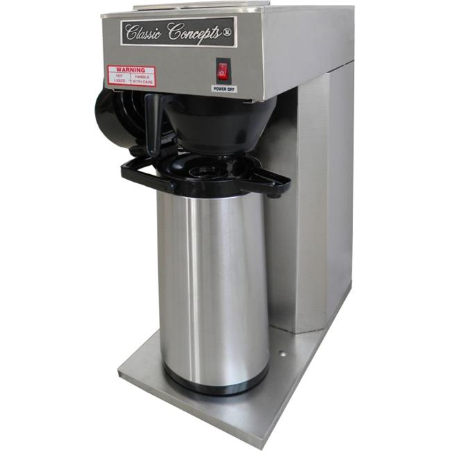 Classic Concepts GB168 Stainless Steel Commercial Brewer - Pour-over 12 Cup With Airpot