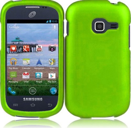 Hard Rubberized Case for Samsung Galaxy Centura S738C - Green