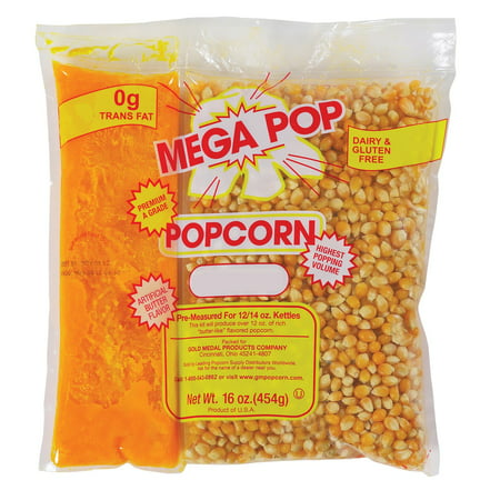 Gold Medal Mega Pop Popcorn Kit (12 oz. kit, 24 ct.) - (Popcorn Kernels &