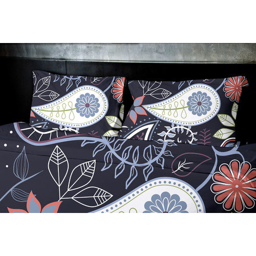 e by design Botanical Blooms Paisley Floral Duvet Cover