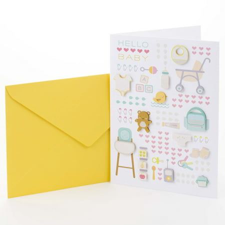 Hallmark Signature New Baby Card (Baby Icons)