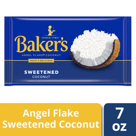 Bakers Coconut ((4 Pack) Baker?s Sweetened Angel Flake Coconut, 7 oz Bag)