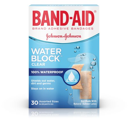 Waterproof Bandage Covers - (2 pack) Band-Aid Brand Water Block Plus Waterproof Adhesive Bandages, 30 ct