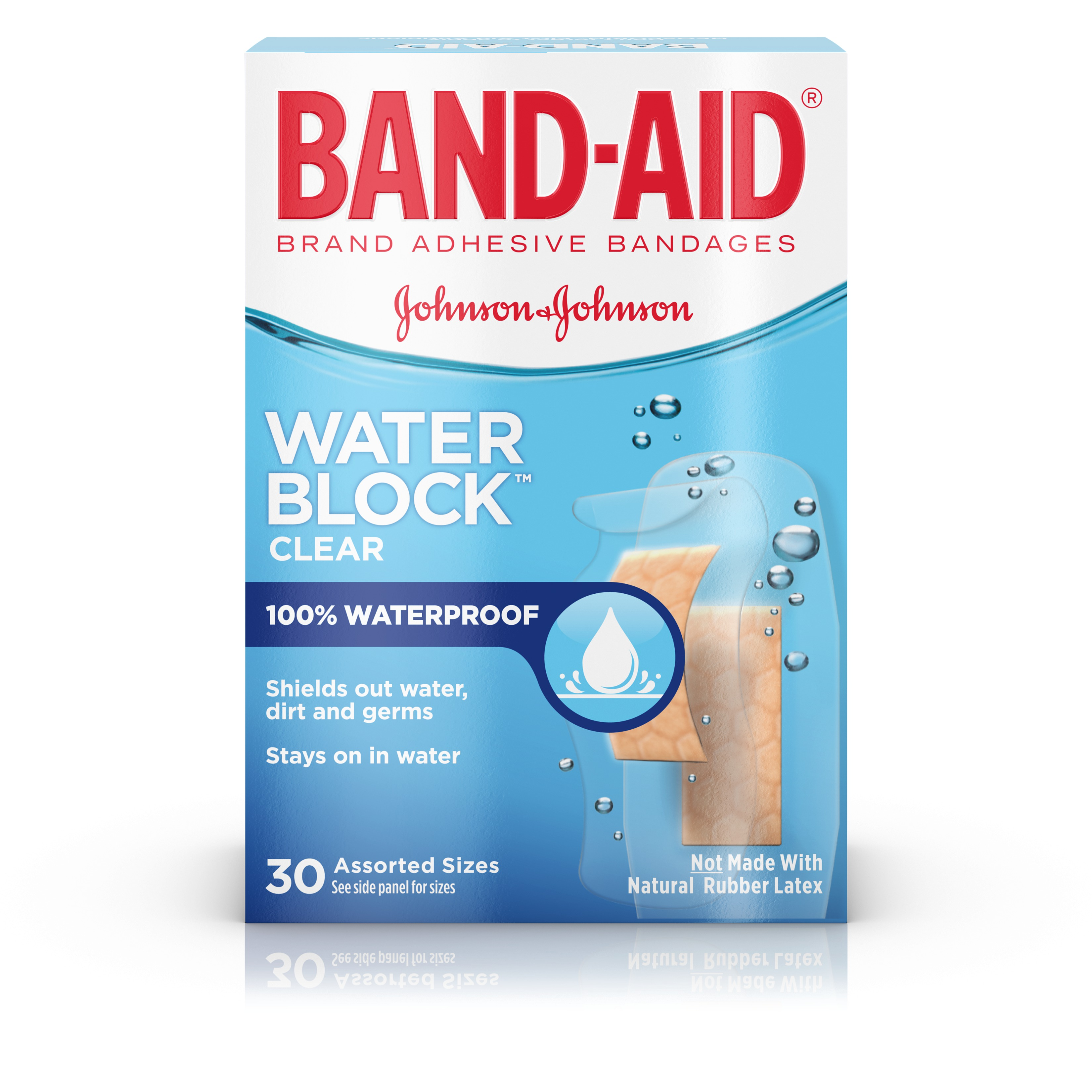 (2 pack) Band-Aid Brand Water Block Plus Waterproof Adhesive Bandages, 30 ct