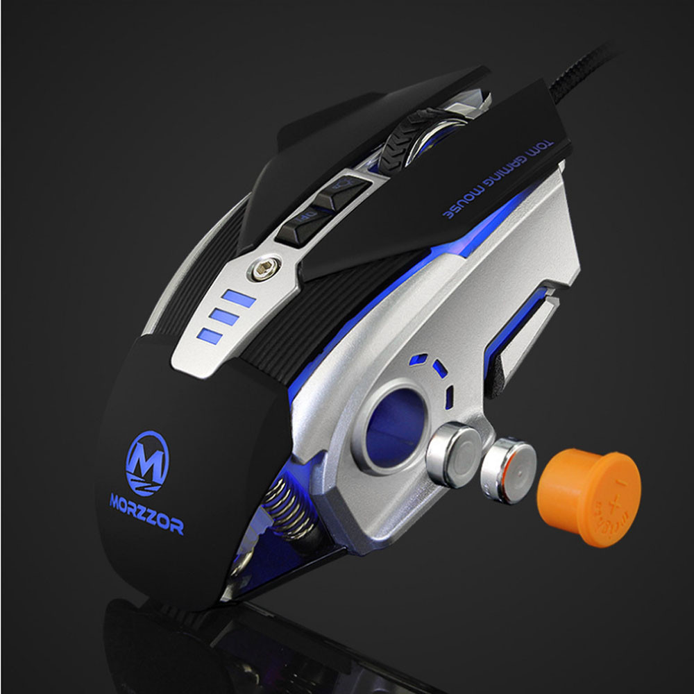DZT1968 3200 DPI 8D Buttons LED Mechanical Wired Gaming Mouse For PC Laptop