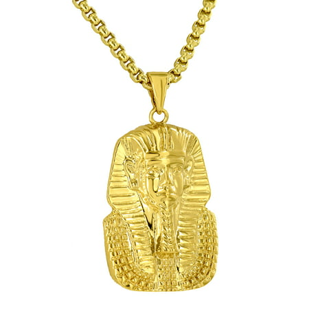 Egyptian Pharoah Pendant Free Stainless Steel 24
