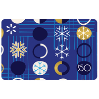 $50 Blue Ornaments Walmart Gift Card