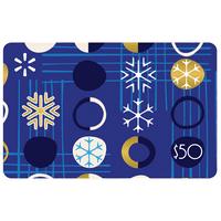 $50 Blue Ornaments Walmart Gift Card