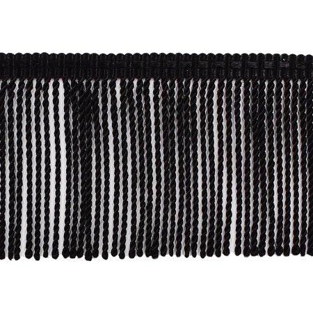 3 Inch long Black Thin Bullion Fringe Trim, Style# BFTC3 Color: K9, Sold By the (Black Fringe Trim)