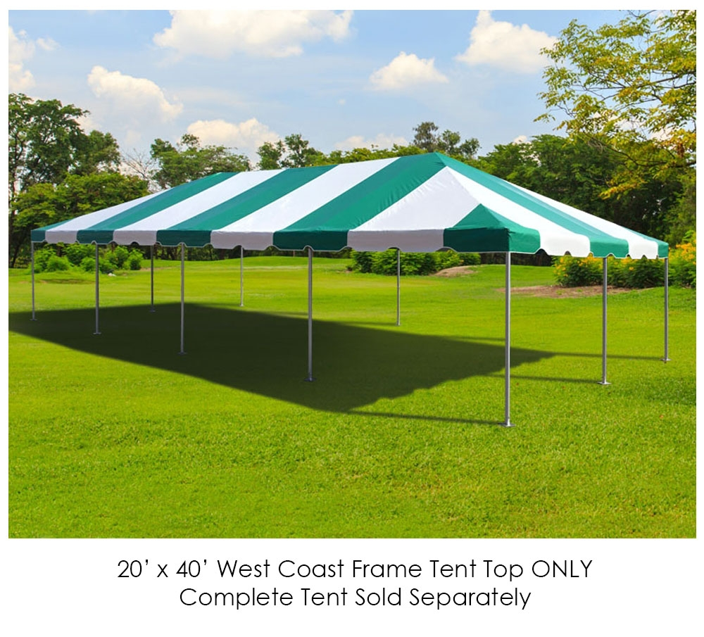 Party Tents Direct 20' x 40' Outdoor Wedding Canopy Event Tent Top ONLY, Blue