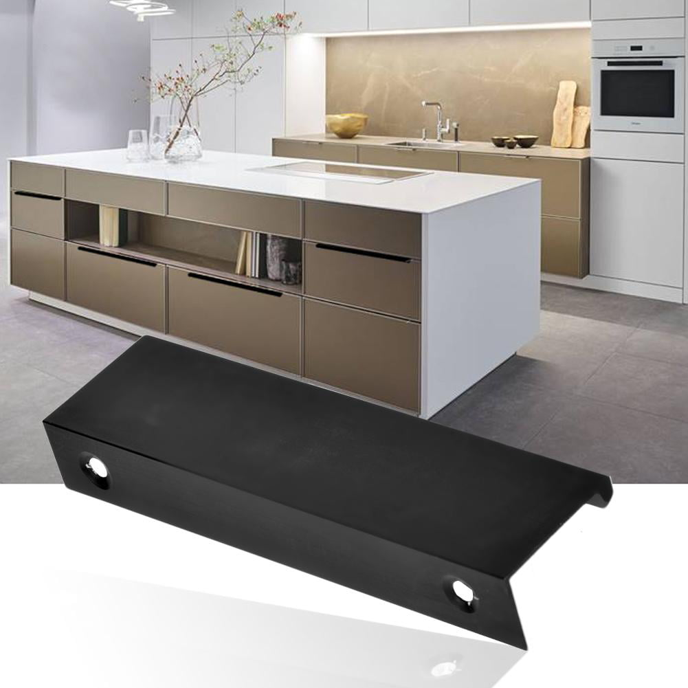 Mgaxyff Modern Kitchen Cabinet Furniture Handles Finger Pull Contemporary Metal Edge Pull Closet Handle Drawer Handle Walmart Com Walmart Com