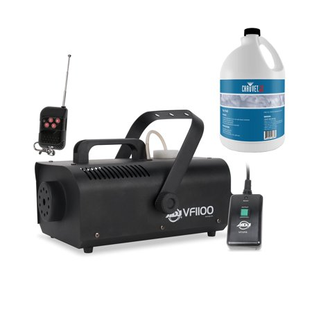 American DJ VF1100 1000W Medium Size Fog Machine with Chauvet 1 Gallon Fluid - Outdoor Fog Machine