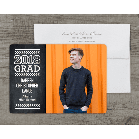 Modern Type Deluxe Graduation Announcement](Graduation Announcements 2017)