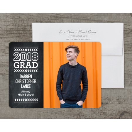 Modern Type Deluxe Graduation Announcement - Party City Graduation Announcements