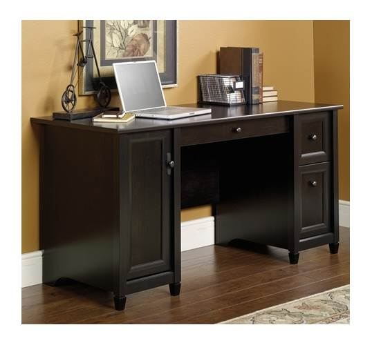 Edge Water Computer Desk in Estate Black Finish