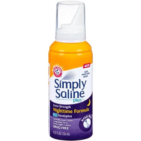 Simply Saline Plus Nighttime Nasal Mist Eucalyptus Extra Strength 4 25 Oz Each