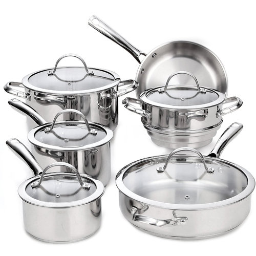 Cooks Standard Classic 11-Piece Stainless Steel Cookware Set