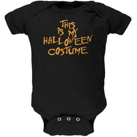 My Funny Cheap Halloween Costume Black Soft Baby One Piece