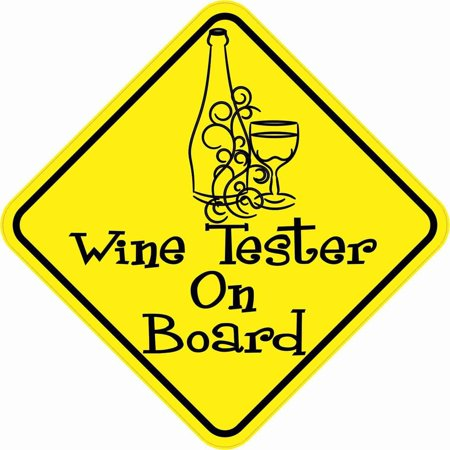 - StickerTalk® Brand 5in x 5in Wine Tester On Board Magnet Vinyl Magnetic Vehicle  Magnets