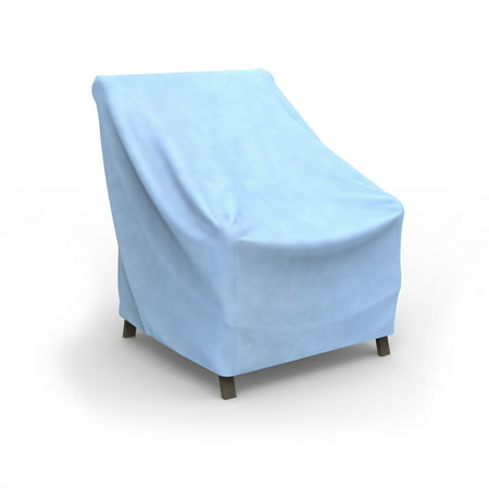 Budge small blue patio outdoor chair cover all seasons - Walmart lawn and garden furniture ...