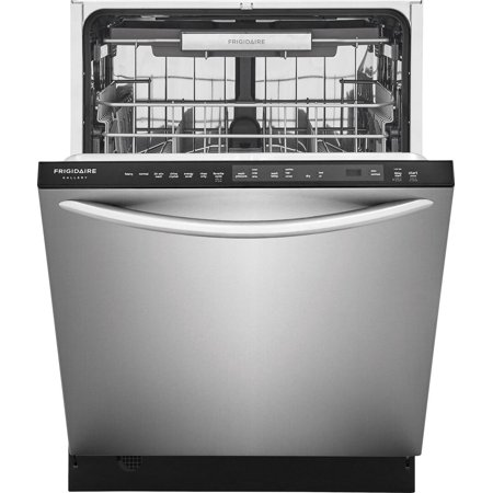 Frigidaire FGID2479SF 24 Energy Star Fully Integrated Built-In Dishwasher with 14 Place Settings  7 Wash Cycles  Cycle Complete LED Floor Beam Indicator  and EvenDry Drying System  in Stainless Steel