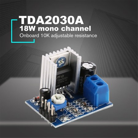 HC-TOP TDA2030A Super Mini DC 6-18V Power Audio Amplifier Board Module Dual Channel - image 3 of 6