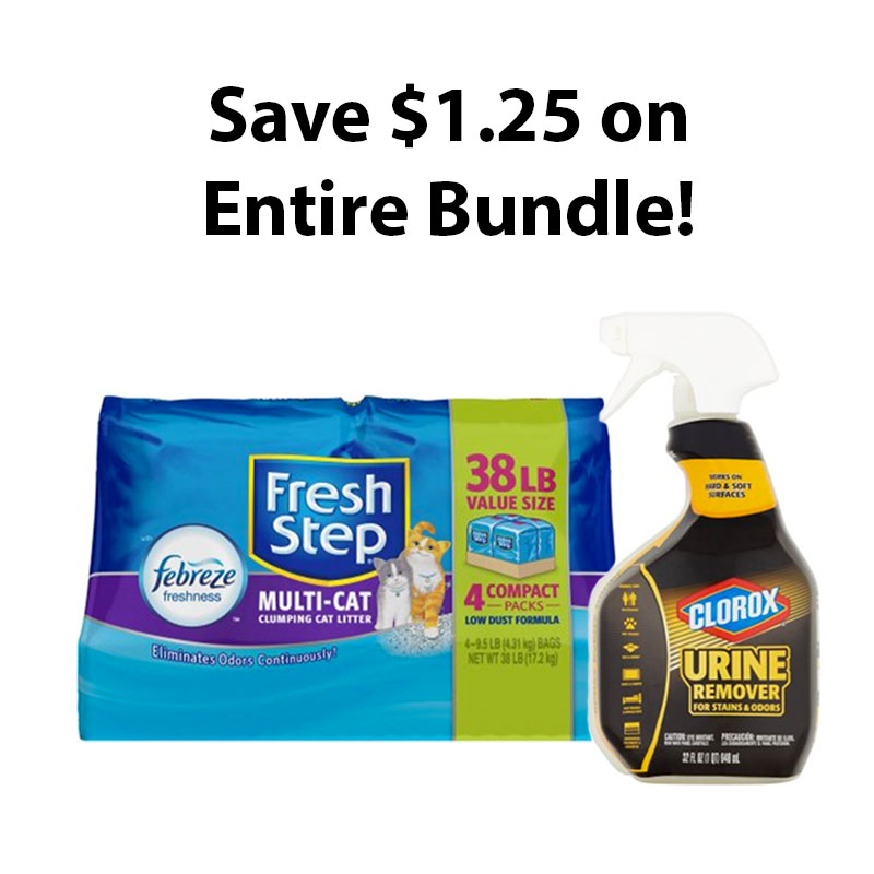 Fresh Step Litter and Clorox Urine Remover Bundle