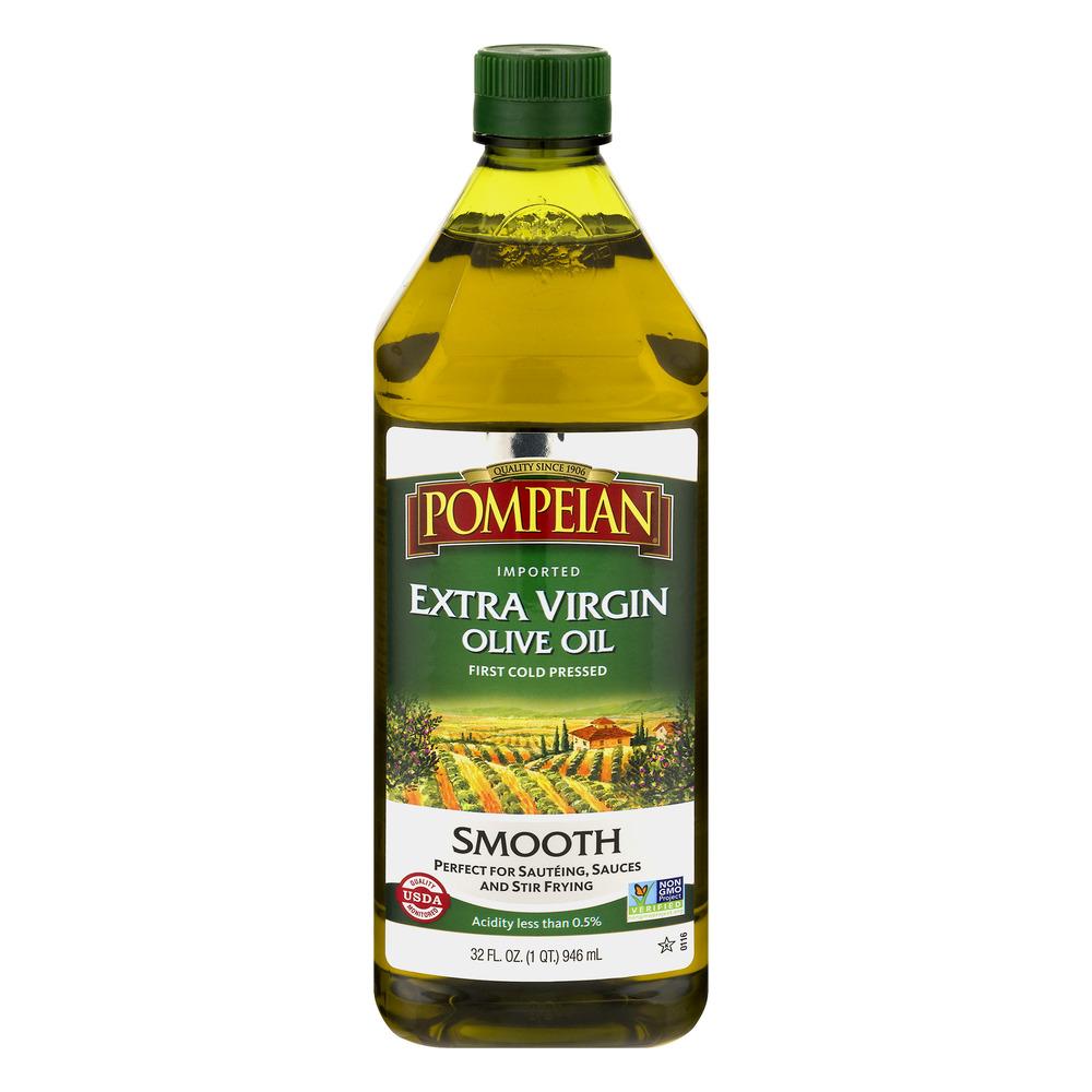 Pompeian Extra Virgin Olive Oil Smooth, 32.0 FL OZ