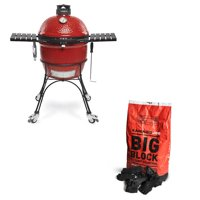 Kamado Joe Classic II Ceramic Red Grill and XL Premium Lump Charcoal, 20 Pounds
