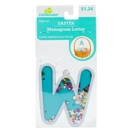 Way To Celebrate! Easter Fun-Fetti Monogram - Letter W Personalize your Easter baskets this holiday season with these Fun-Fetti Monogram Letter Tags! These tags come ready to hang and filled with colorful confetti in any letter of your choosing. You can spell out a full name or just choose the initials of your friends and family, the possibilities are endless!