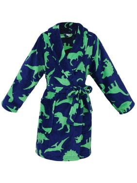 Simplicity Kid's Soft Dinosure Printed Fleece Kimono Robe Bathrobe,XL