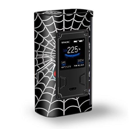 Skin Decal Vinyl Wrap for Smok Majesty 225W TC Kit Vape Kit skins stickers cover/ Black Widow Spider Web