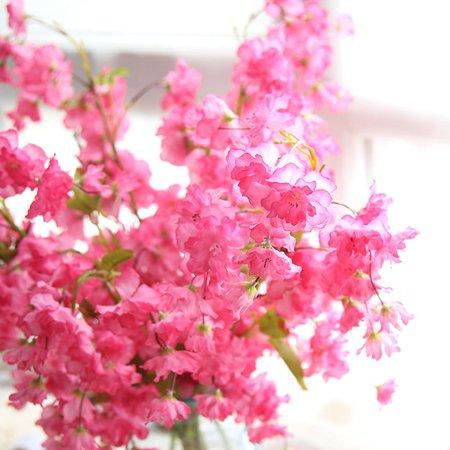 Valentine's Day Artificial Fake Cherry Blossom Silk Flower Bridal Hydrangea Home Garden Decor C