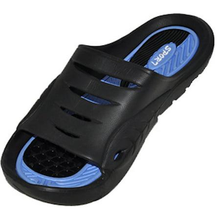Cinco Men's Rubber  Sandal Slipper Comfortable Shower Beach Shoe Slip On Flip (Teva Eva Sole Flip Flops)