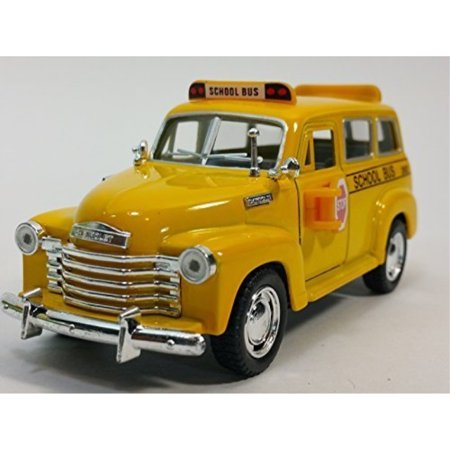 100 Passenger Vehicle - Kinsmart 1950 Chevy Suburban City School Bus 1/36 Scale Diecast Commercial Passenger Vehicle