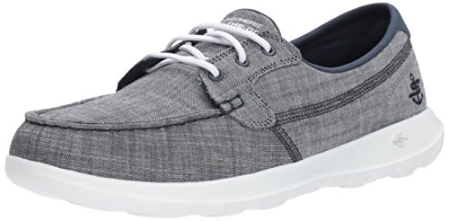 Skechers Performance Women's Go Walk Lite-15433 Boat Shoe,Navy,6.5 M US