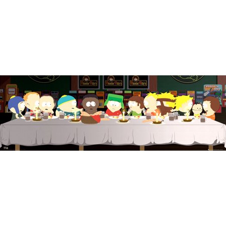 South Park Last Supper Poster Poster Print