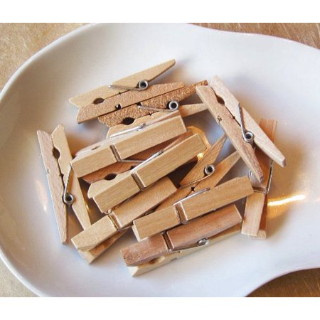 48Wood Small Clothes Pins 1 3/4 Inch long, by My Craft Supplies - Small Clothes Pins