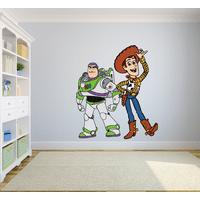Toy Story Woody Buzz Lightyear Colorful Decors Wall Sticker Art Design Decal for Girls Boys Kids Room Bedroom Nursery Kindergarten House Fun Home Decor Stickers Wall Art Vinyl Decoration (20x12 inch)