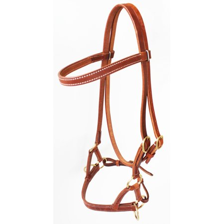 Western Harness - Horse Western Harness Leather Bitless Training Aide Side Pull Bridle 77RT