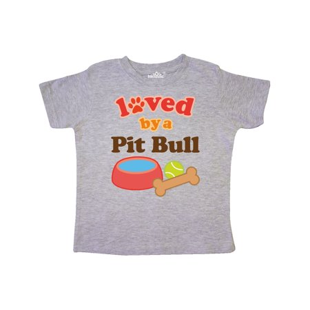 Pit Bull Loved By A (Dog Breed) Toddler T-Shirt